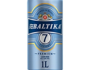 Beer Baltika No.7 - 1 L can - 5.4% Alc