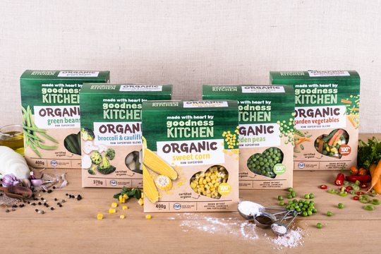 Introducing Goodness Kitchen Frozen Organic Vegetables